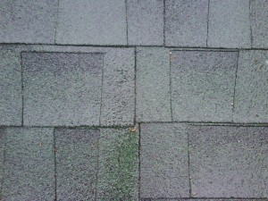 Poor installation can ruin a roof job.  Notice the joints of successive rows are in line with each other